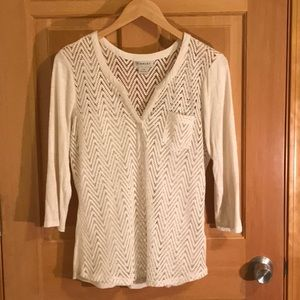 ARIAT TOP in Sz large Cream colored